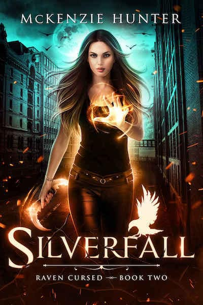 Book cover for Silverfall (Raven Cursed) by McKenzie Hunter