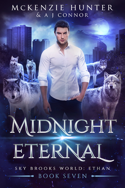 Book cover for Midnight Eternal (Sky Brooks World: Ethan) by McKenzie Hunter